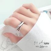 Lacuna.925純銀寬版粗獷搖滾風格多層次開口戒指【sa293】911 SHOP