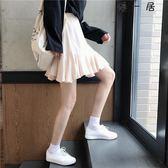 女裝韓版高腰寬鬆荷葉邊半身A字裙