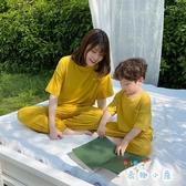 親子裝母子睡衣套裝男寶寶韓版家居服男童母子裝【奇趣小屋】
