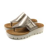 Clarks Unstructured 夾腳涼鞋 古銅金 厚底 女鞋 CLF41403SS19 no004