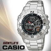 CASIO 卡西歐手錶專賣店 AMW-705D-1A 男錶 雙顯錶 不鏽鋼錶帶 黑面 溫度 計時