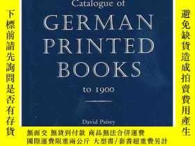 二手書博民逛書店Catalogue罕見of German Printed Boo