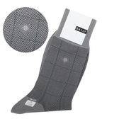 BALLY經典大格紋長筒紳士襪(灰色)980227-4