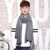 韓版秋冬季男士圍巾保暖時尚英倫風薄款圍脖男學生休閒年輕人 奇思妙想屋