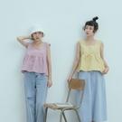 Queen Shop【01096971】純色方領傘襬背心上衣 五色售*現+預*