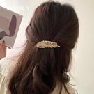 髮夾 芭蕉葉珍珠髪卡夾子頭飾韓國髪夾網紅頂夾劉海夾彈簧夾后腦勺髪飾【快速出貨八折下殺】