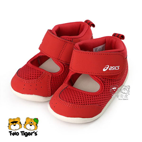 ASICS 亞瑟士 AMPHIBIAN FIRST 2 紅色 高筒 兒童涼鞋 寶寶鞋 NO.R5547