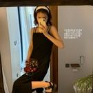 碎花連衣裙夏 jennie的約會 甜酷鹽系~雙肩帶可調節碎花吊帶裙 夏日顯瘦神器 設計師