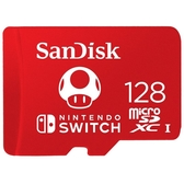 SanDisk and Nintendo Cobranded microSDXC 128GB記憶卡(任天堂授權專用)