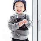 韓版灰色方塊英文字母長袖上衣親子裝(小孩)