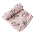 美國 Little Unicorn 竹纖維紗布巾單入組/包巾~粉紅斑斑
