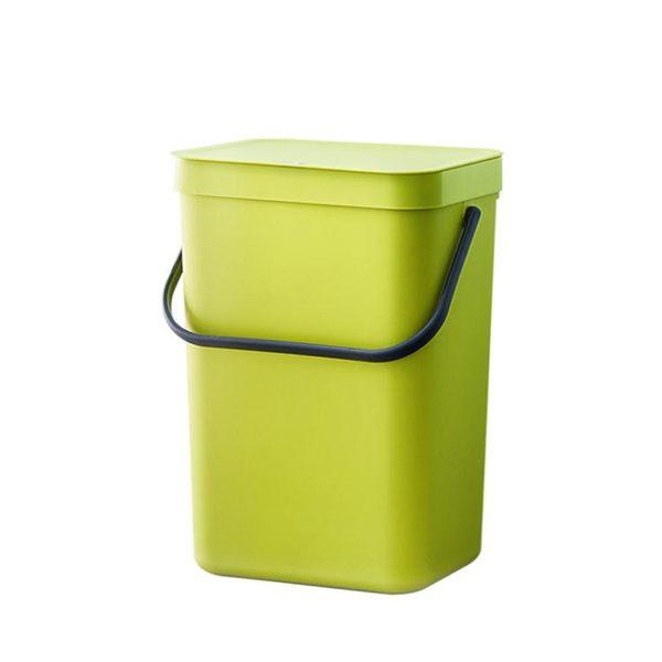 北歐創意塑料壁懸掛垃圾桶家用衛生間客廳臥室廚房有蓋大號無痕貼 igo 露露日記