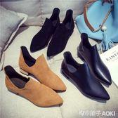 馬丁靴女英倫風新款短筒短靴女粗跟復古時尚單靴及裸靴子 青木鋪子