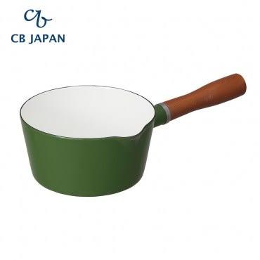 CB Japan 北歐系列琺瑯原木單柄牛奶鍋-森林綠