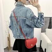 女春秋短款韓版bf夾克學生寬鬆休閒小外套2020新款牛仔衣 草莓妞妞