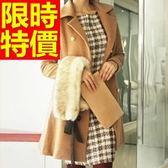 毛呢大衣-清新溫暖羊毛女長版外套2色62k16[巴黎精品]