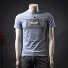 男士絲光棉短袖t恤男2021年新款夏季修身潮牌冰感歐貨超火高端潮 設計師
