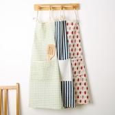 圍裙家用廚房棉質圍裙正韓 防水防油成人女士罩衣工作服logo 雙12 狂歡