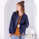 betty's貝蒂思 LOGO軍風飛行外套(深藍)