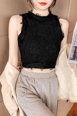 小可愛背心705#蕾絲吊帶背心短款外穿ins潮網紅內搭修身顯瘦氣質打底NE326-B.依品國際