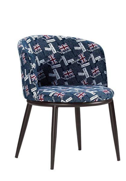 {{8號店鋪 森寶藝品傢俱}} a-01 品味生活 餐椅系列 1025-9 德魯餐椅(藍國旗布)