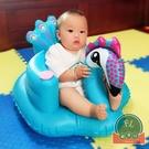 寶寶學坐椅兒童充氣小沙發加厚便攜式可折疊【福喜行】