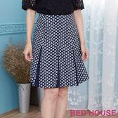 Red House 蕾赫斯-方格摺裙(共2色)