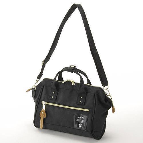 anello 黑色 小側背手提兩用包 日本帶回正版 帆布水洗 A5放的下! AT-H0851