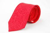 【Alpaca】紅色花草紋亮點領帶