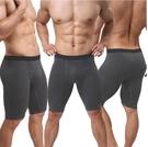 [XL-]-內衣褲 男士平角加長防磨腿 棉運動5分褲 健身田徑褲 A901