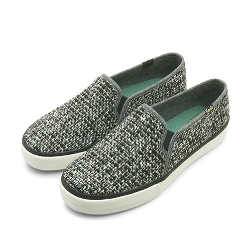 LIKA夢 Keds 時尚韓風經典款帆布鞋 DOUBLE DECKER系列 黑灰金 132278 女