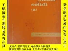 二手書博民逛書店physica罕見status solidi (a) volume 5 number 3 1971 (P2520)