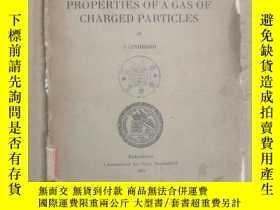 二手書博民逛書店on罕見the properties of A gas of charged particles(P3109)