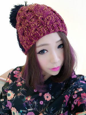 新品韓版純手工鉤針織毛線帽多色撞色保暖針織帽子秋冬季大球帽超取4-7天出貨
