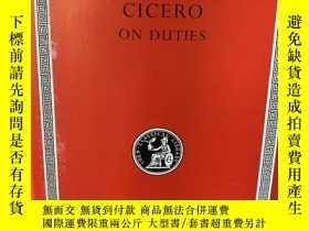 二手書博民逛書店On罕見Duties. Cicero. Loeb Classic