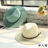 禮帽韓版遮陽帽英倫女帽子男士草帽