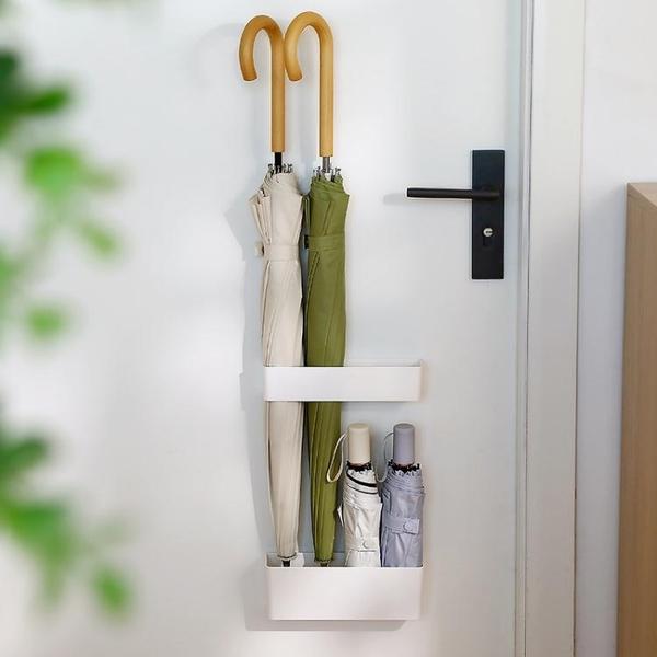 日式入戶家用置傘架壁掛收納櫃架門後雨傘桶免打孔放傘置物架門口 ATF「艾瑞斯」
