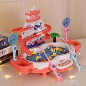 釣魚玩具兒童磁性魚竿電動寶寶一歲半兩歲小孩早教益智力動腦套裝  聖誕節免運