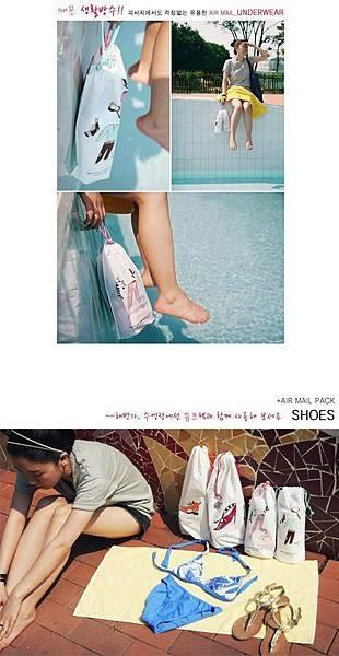 【發現。好貨】韓國設計游泳束口袋 旅行雜物袋 鞋子收納袋 內衣收納袋 整理袋