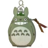 龍貓 皮質零錢包 吊飾 鑰匙圈 灰龍貓 TOTORO 宮崎駿 日本正版 該該貝比日本精品 ☆