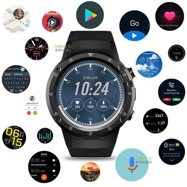 Zeblaze THOR 4 Plus 4G 手錶手機 插卡通話上網 1.4吋螢幕 安卓 7.1 繁體中文 PLAY商店