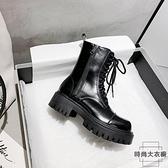 馬丁靴女英倫風厚底潮機車短靴冬加絨鞋子【時尚大衣櫥】