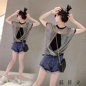 歐洲站夏裝歐貨潮時尚寬鬆短袖