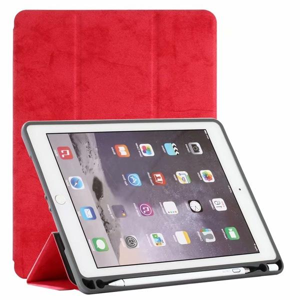 蘋果 iPad 9.7 2017 iPad 9.7 2018 Pro 9.7 Air2 絨布平板皮套 支架 平板保護套 三折式 皮套