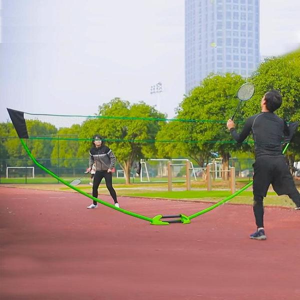 雙人標準羽毛球網架 簡易便攜式羽毛球網 移動網廠家直銷