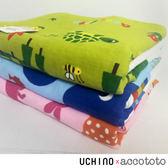 accototo 動物樂園 浴巾 / 嬰幼兒 兒童 毛巾 無撚紗 純棉 刺繡 大象圖案 UCHINO