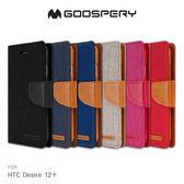 GOOSPERY HTC Desire 12+ CANVAS 網布皮套 磁扣 可插卡 側翻 保護套 手機套
