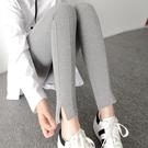 純棉打底褲彈力修身顯瘦鉛筆褲女外穿開叉小腳九分褲 - 巴黎衣櫃
