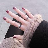 六字真言戒指 六字真言男女戒指個性霸氣食指環日韓版復古開口簡約時尚搭配手飾   寶貝計畫
