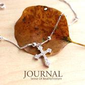 925純銀 質著滿鑽祈願十字架手鍊_質物日誌Journal
